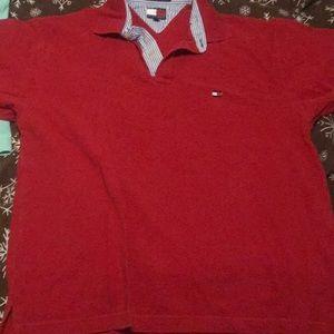 Tommy Hilfiger large red shirt men's